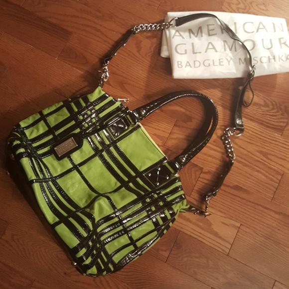 Badgley Mischka Handbags - BADGLEY MISCHKA American glamour leather tote.